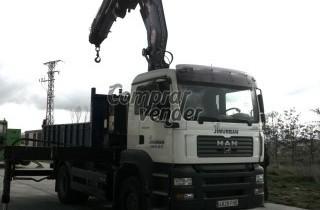 Vendo camión MAN tga 18310 con grúa PM 30 SP. Basculante.