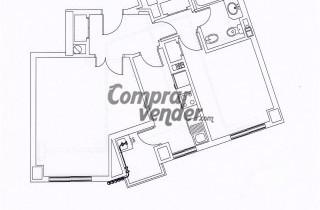 Piso en 5 planta totalmente exterior con vistas diáfanas a Madrid Río.71 m,1 dormitorio.