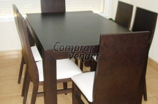 Salon muebles wengue for Muebles de salon completos