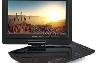 DVD PORTATIL CON USB ,TARJETA Y DVD  9 PULGADAS