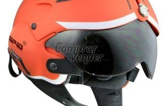 CASCO DE MOTO GPA FRANCE AIRCRAFT NARANJA