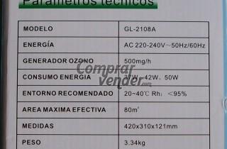 Purificador de Aire con Generador Ozono (NUEVO)