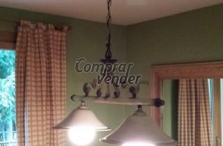 Lámpara doble bombilla y lámpara individual