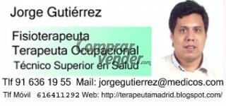Fisioterapeuta, Terapeuta Ocupacional y Logopeda en Madrid