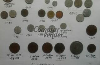 venta de monedas antiguas del año1330, 1820, 1900,1940, 1980, de bronce plata.........