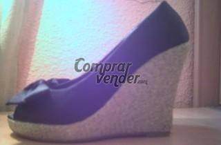 Zapatos con cuña de Blanco. Talla 36