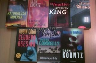 Lote de trece libros de terror y suspense
