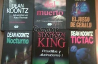 Lote de seis libros de terror y suspense
